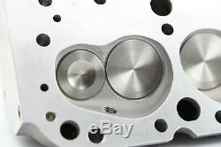 SBC Chevy 350 Complete Straight Aluminum Cylinder Heads 220cc 64 Studs G Plates