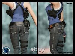 SUPER DUCK 1/6 Resident Evil Female Policeman Head & Suit SET063 fit 12'' PH Dol
