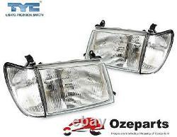 Set 4 Pcs Head Lamp + Corner Light For Toyota Landcruiser 100 Series 19982005