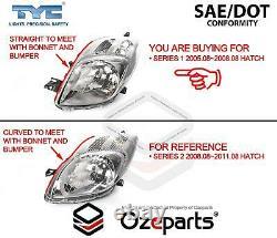 Set Pair LH+RH Hand Head Light Lamp For Toyota Yaris HATCH NCP90 Series 1 0508