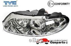 Set Pair LH+RH Head Light Chrome For Holden Commodore VT 9700 ANGEL EYE