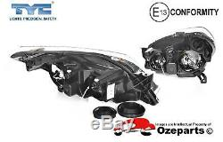 Set / Pair LH+RH Head Light Front Lamp Black For Holden Astra AH Series 0410