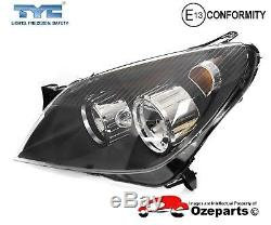 Set / Pair LH+RH Head Light Front Lamp Black For Holden Astra AH Series 0410