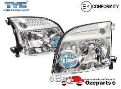 Set / Pair LH+RH Head Light Front Lamp For Nissan X-Trail Xtrail T30 20012007