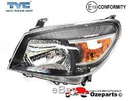 Set / Pair LH+RH Head Light Lamp (Black) For Ford Ranger PK Ute 20092011