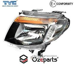 Set / Pair LH+RH Head Light Lamp Black For Ford Ranger PX 1115 XL XLS Wildtrak