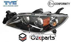 Set Pair LH+RH Head Light Lamp (Black) For Mazda 3 BK 4 Door SEDAN 20032009