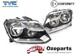 Set / Pair LH+RH Head Light Lamp For Volkswagen VW Amarok Ute 2H 20102016