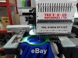 Single head 15 needle cheap industrial embroidery machine