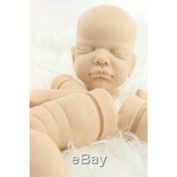 Soft Tin Silicone DIY Reborn Doll Kits Head 3/4 Limbs for 20'' Reborn Baby Doll