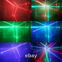 Spider Moving Head Light 9LEDs Beam DJ Lights RGB Sound Activated and DMX-512