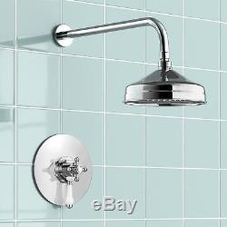Traditional 194 MM Head Thermostatic Mixer Shower Valve Bathroom Ss1wctrad01