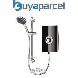 Triton Aspirante 9.5KW Gloss Black Electric Shower Includes Head + Riser