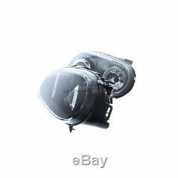 VW Golf Mk4 1997-2004 Black Angel Eye Halo Head Light Lamp Pair Left & Right