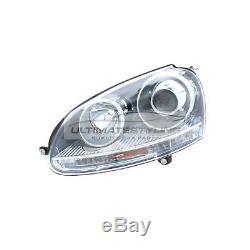 VW Golf Mk5 2003-2009 Black R32 Style Head Light Lamp Pair Left & Right