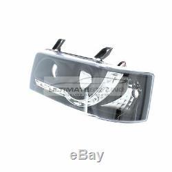 VW T4 1990-2003 Black DRL Devil Eye R8 Head Light Lamp Pair Left & Right