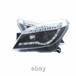 Vauxhall Astra H Mk5 2004-2011 Black DRL Style Head Light Lamp Pair Left & Right