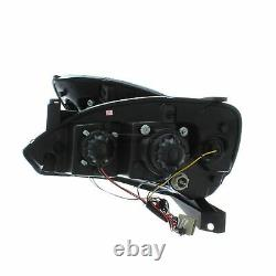 Vauxhall Corsa C 2000-2006 Black DRL Devil Eye Head Light Lamp Pair Left & Right