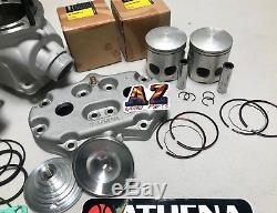 Yamaha Banshee Athena 400cc 68 Big Bore Cylinders Pistons Top Rebuild Head Domes